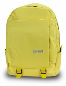 "Mochila Backpack GHIA 15.6"" Color Amarillo 3 Compartimientos"