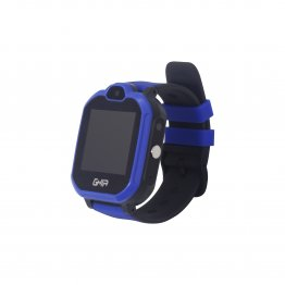 "Smart Watch Kids GHIA - 1.44"" - Linterna - Cámara - Sim Card  3G/4G  - Touch - Azul y Negro"