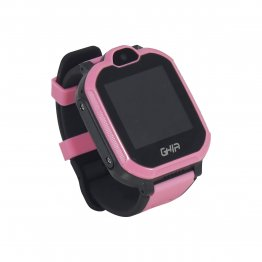 "Smart Watch Kids GHIA - 1.44"" - Linterna - Cámara - Sim Card  3G/4G  - Touch - Rosa y Negro"