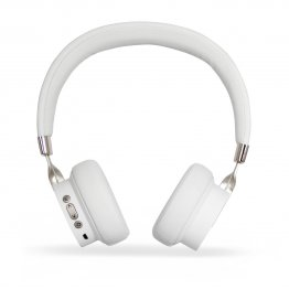 Audifonos Diadema Bluetooth GHIA N3 - Sonido HIFI - Color Blanco - 10 Mts de Alcance - Bluetooth 5.0 - AUX - TF CARD - RADIO FM