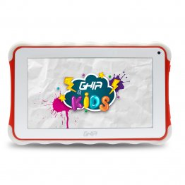 "Tablet GHIA Kids 7 TODDLER  - Pantalla de 7"" - QuadCore - 1GB - 8GB - 2 Cámaras - Bluetooth - Android 8.1 - Roja"