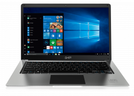 "Laptop GHIA Libero E - 14.1"" - Intel Celeron N3350 - 4GB - 64GB eMMC - Gráficos HD 500 - Windows 10 Home - Plata"