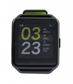 "Smart Watch GHIA - 1.54"" Touch - Bluetooth 4.0 - iOS/Android - Negro/Verde"