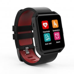 "Smart Watch GHIA - 1.54"" Touch - Bluetooth 4.0 - iOS/Android - Negro/Rojo"