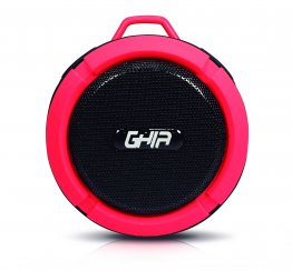 Bocina Storm Waterproof GHIA - Bluetooth - 3W - Fm - Conexión 3.5mm - Rojo