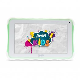 "Tablet GHIA Kids 7  TODDLER - Pantalla de 7"" - QuadCore - 1GB - 8GB - 2 Cámaras - Bluetooth - Android 8.1 - Verde"