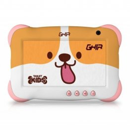 "Tablet GHIA GTKIDS7DG - 7"" - A50 Quad Core - 1GB - 16GB - Cámaras 0.3MP/2MP - Android 9 Go Edition - Perrito"