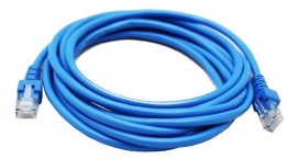 Cable de Red GHIA - 3 Mts - CAT5E - RJ-47 - Azul