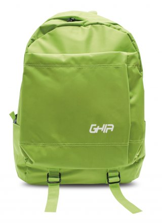 "Mochila Backpack GHIA 15.6"" Color Verde 3 Compartimientos"