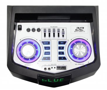 "Bocina Bafle Doble GHIA GSP-212 - 12""- Alámbrica - Bluetooth - Radio FM - USB - Micro SD - LED - Negra"