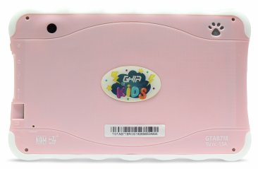 "Tablet GHIA Kids 7  TODDLER - Pantalla de 7"" - QuadCore - 1GB - 8GB - 2 Cámaras - Bluetooth - Android 8.1 - Rosa"