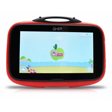 "Tablet GHIA Kids Catarina - Pantalla de 7"" - Quad Core 1.2 GHz - 1GB - 8GB - 2 Cámaras - Wi-Fi - Bluetooth - Android 8.1 - Rojo"
